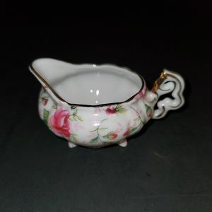 Vintage Lefton Minature Creamer Rose Chintz